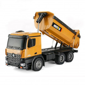 HUINA 1573 1/14 RC TIPPER/DUMP TRUCK 2.4G 10CH WITH DIE CAST CAB, BUCKETS and WHEELS