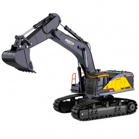 HUINA 1592 1/14TH RC EXCAVATOR 2.4G 22CH w/DIE CAST CAB, BUCKET