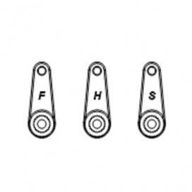 STEERING SERVO HORN (3Pcs.) H9805