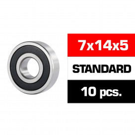 "7x14x5mm ""HS"" RUBBER SEALED BEARING SET (10pcs)"