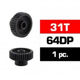 PIÑON 64DP - 31T - ACERO HSS - DIAMETRO 3,17mm