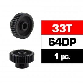 PIÑON 64DP - 33T - ACERO HSS - DIAMETRO 3,17mm