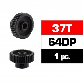HSS STEEL 64DP PINION GEAR 37T W/3.17mm BORE