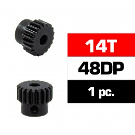 HSS STEEL 48DP PINION GEAR 14T W/3.17mm BORE