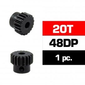HSS STEEL 48DP PINION GEAR 20T W/3.17mm BORE
