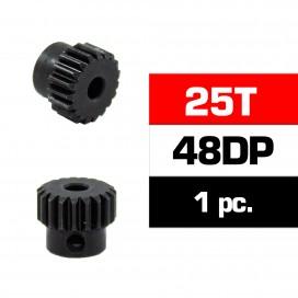 PIÑON 48DP -25T - ACERO HSS - DIAMETRO 3,17mm