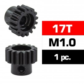 HSS STEEL M1.0 PINION GEAR 17T W/5.0mm BORE