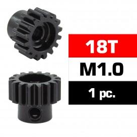 HSS STEEL M1.0 PINION GEAR 18T W/5.0mm BORE